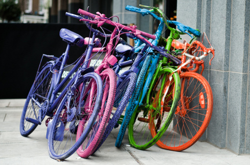 bicycle, bike, blue, colorful, colors
