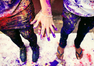 artsy, boy, couple, girl, hands, love, paint, photography