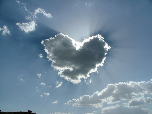 beautiful, cloud, heart, incredible, love
