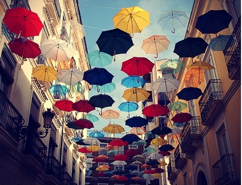colourful, creative, europe, umbrellas