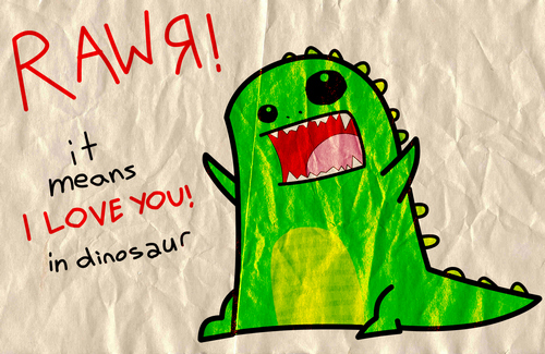 cute, dinosaur, facebook, love, rawr