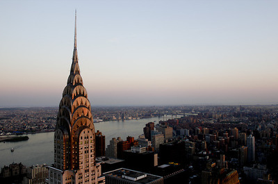 empire state building, new york, sky, skyline, view