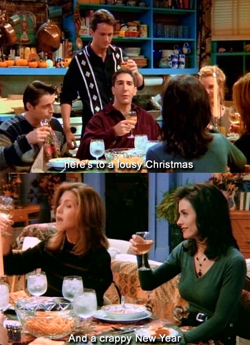 chandler, christmas, friends, funny, joey