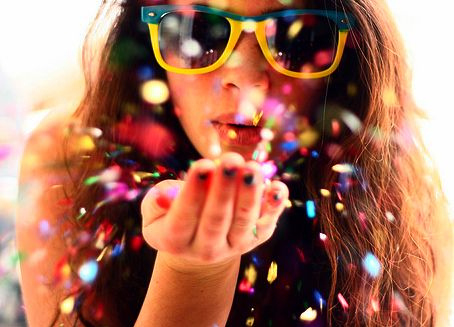 blowing, color, fashion, girl, hair, multicolor, nail polish, paint, photography, pretty, rainbow, separate with comma, shades, sunglasses