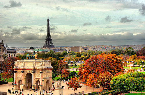 autumn, eiffel tower, france, paris