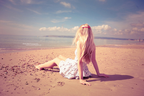 beach, blond, blonde, blue, dress