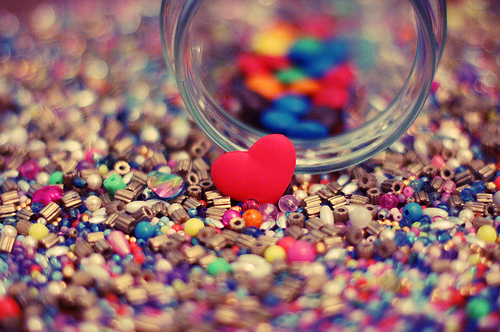 beads, cute, heart, love, photography