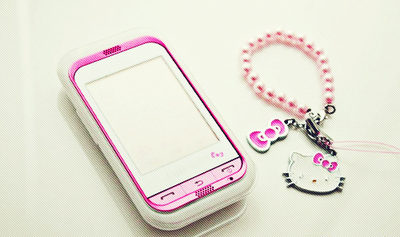 cellphone, hello kitty, kawaii, mobile, phone