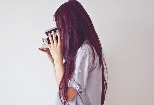 black, camera, fashion, girl, hair, love, nature, photography, polaroid, pretty, vintage