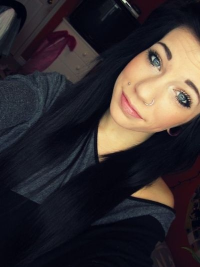 black hair, blah, blue eyes, cute, girl, gorgeous, melissa, piercings, sexy