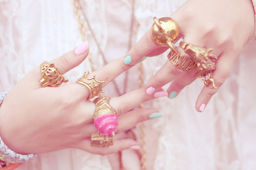 fashion, girly, jewelry, pink, rings