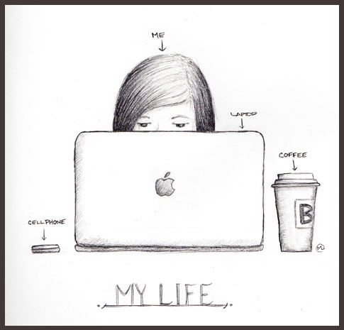 apple, coffee, laptop, life, omg so true !