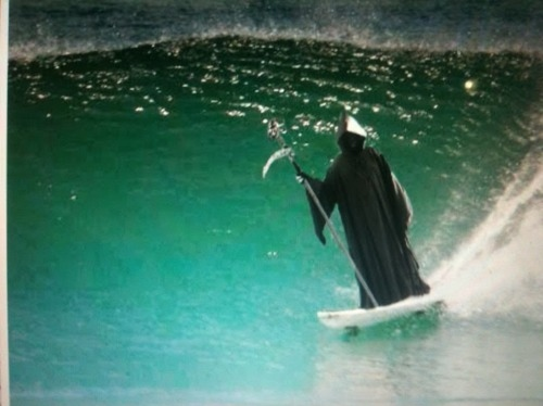 awesome, funny, grim reaper, lol, ocean