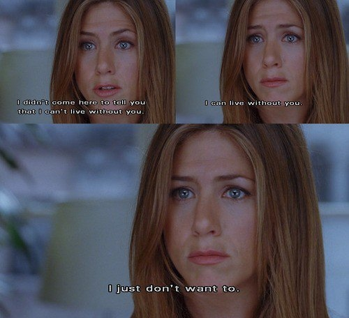 blonde, cry, dont, jennifer aniston, leave