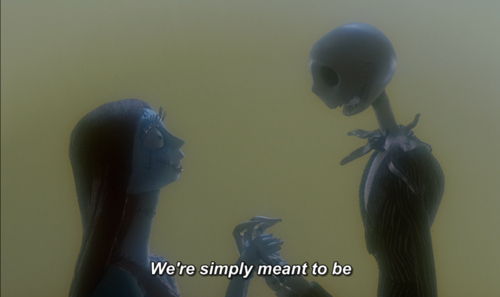 disney, jack and sally, love, nightmare before christmas, tim burton