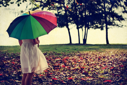 colourful, girl, nature, photography, rainbow umbrella