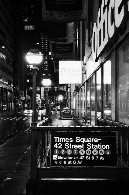 42 street, new york city, subway, times square