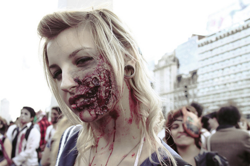 amazing, blonde, blood, hair, make