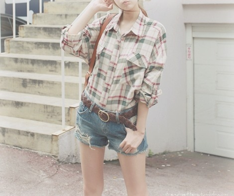 asian, checkered, cute, fashion, photography