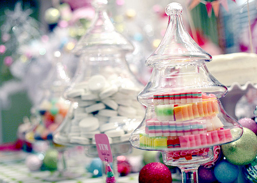 candy, christmas, coloful, cute, food, jar, kawaii, rainbow, store, tree, yum
